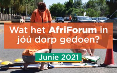 AFRIFORUM TAKSUKSESSE: JUNIE 2021