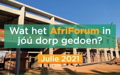 AFRIFORUM TAKSUKSESSE: JULIE 2021